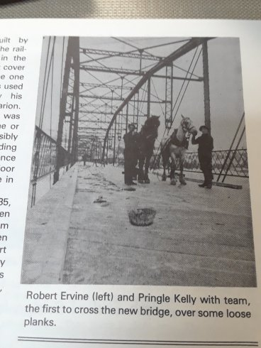 This is the bridge crossing the Tobique and connecting Perth-Andover, when it was first built.