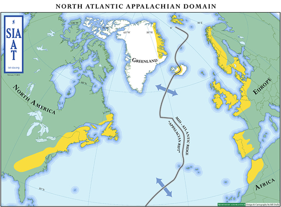 Circum-Atlantic Appalachian Map
